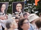 Více než čtyřicítku demonstrantů podporujících vězněného Michaila