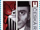Franz Kafka na výroční známce České pošty