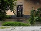 Rozvodněná Doubrava v obci Bílek u Chotěboře. (25. června 2013)