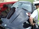 Řidičce pomohlo zachránit život i to, že náraz vlaku směřoval do opačné strany,