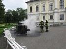 Při nehodě tříkolky v Kravařích se zranilo pět dětí. (22. června 2013)
