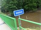 Stoupání řeky Doubravy v Bílku na Vysočině.