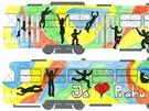 Vítězný návrh žáků z gymnázia Nad Alejí s názvem Já miluju Prahu.