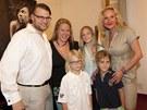 Rodina Karla Svobody znovu pohromadě - zleva syn Petr Svoboda, dcera Jana