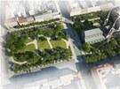 Vizualizace: Takto by mělo vypadat Karlínské náměstí v Praze 8 po revitalizaci.