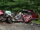 Hasiči se po zásahu u jiné dopravní nehody sami srazili s osobním autem.