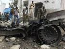 P�ed komplexem OSN v som�lsk�m Mogadi�u nejd��v vybuchlo auto napln�n�