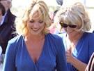 Katherine Heiglová se svou dublérkou ve filmu Chceš mě, chci tě (2008)