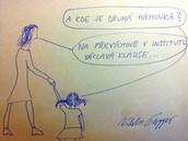 Kreslená reakce Viktora Paggia (LIDEM) na karikaturu homosexuálů s dětmi