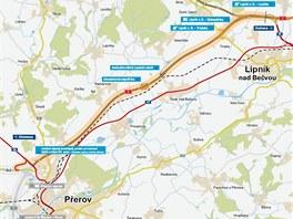Předposlední chybějící část D1 z Přerova do Lipníku nad Bečvou měla být...