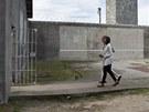 Barack Obama s manželkou na návštěvě ve vězení Robben Island, kde drželi mimo