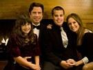 John Travolta s manželkou a dětmi (2009)