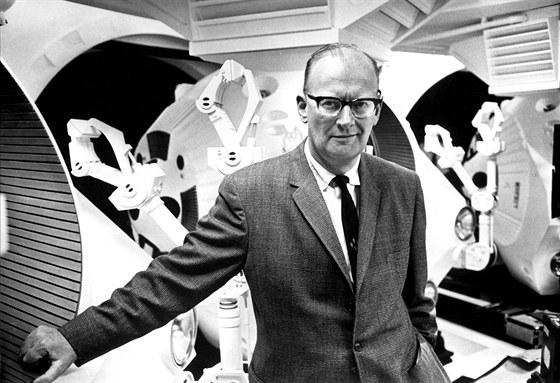 Arthur C. Clarke během natáčení filmu Vesmírná odysea 2001