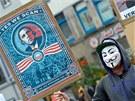Hanover. Protest proti americké tajné operaci PRISM (2. července 2013)