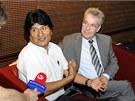 Bolivijsk� prezident Evo Morales a jeho rakousk� prot�j�ek Heinz Fischer na