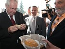 Prezident Miloš Zeman v Osvětimanech (4. července 2013)
