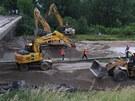 Demolice mostu u Velké Bíteše (5. července 2013)