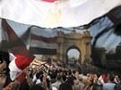 Mursího odpůrci v Káhiře (2. července 2013)