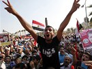 Mursího stoupenci, kteří se v úterý sešli na předměstí Káhiry (2. července