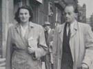 Štefánie Lorándová s manželem v 50. letech.