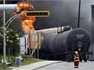 V Kanad� vykolejil a explodoval vlak s ropou.