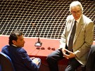 Kapitán lodi Costa Concordia Francisco Schettino u soudu mluví se svým...