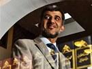 Muneeb Hassan Alrawi u knihovny v brněnské mešitě