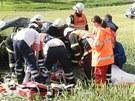 Nehoda osobn�ho auta u Archlebova si vy��dala p�t zran�n�ch