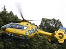 Záchranářský vrtulník přepravil těžce zraněného na urgentní příjem ostravské