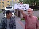 V Českých Budějovicích krátce před druhou demonstrací.