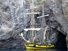 Kopie vůbec nejznámější korzárské lodi raných dnů Ameriky byla na vodu spuštěná
