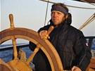 Lud�k Kocourek si plavbou na historick� lodi splnil sv�j klukovsk� sen.