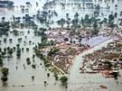Zatopená oblast Rohjan v jižním Pákistánu (14. srpna 2010)