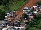 Sesuvy půdy způsobené klimatickými změnami v brazilském Nova Friburgo (16.