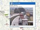 Nehoda se stala p��mo p�ed jednou z kamer sleduj�c� dopravu na 160. kilometru