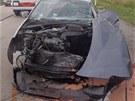 Na d�lnici se u Velk� B�te�e ve �tvrtek r�no srazilo osobn� auto s n�kladn�m.