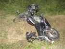 Motocyklistka srazila chodce. Muž po převozu do nemocnice zemřel.