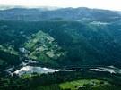 Labská přehrada u Špindlerova Mlýna v Krkonoších.