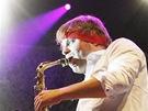 Z vystoupení Parov Stelar Band na festivalu Rock for People (3. července 2013)