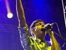 Z vystoupení kapely Klaxons na festivalu Rock for People (4. července 2013)