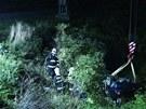 Srážka vlaku a osobního auta u Cítova na Mělnicku (9. července 2013)