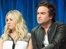 Kaley Cuoco a Johnny Galecki alias seriáloví Penny a Leonard tvořili pár i ve