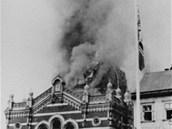Osudný 10. listopad 1938. Opavská synagoga hoří.