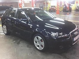 Ukradené auto značky Audi.
