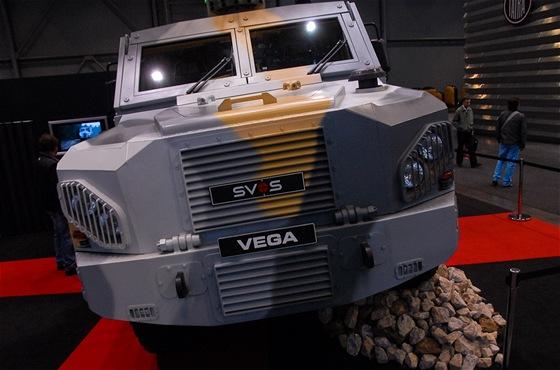 Obrněné vozidlo VEGA na letošním veletrhu obranných a bezpečnostních