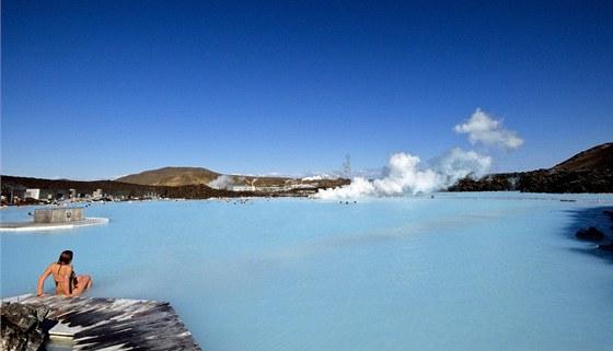Modrá laguna na poloostrově Reykjanes
