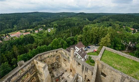 Pohled z hradu Landštejn