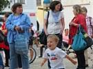 Zhruba stovka lidí přišla v pátek odpoledne vyjádřit na českobudějovické...
