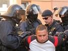 Zatýkání radikálů v Českých Budějovicích (13.7.2013)