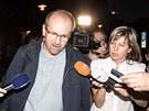 Ivan Fuksa opouští vazbu v Ostravě (16. 7. 2013)